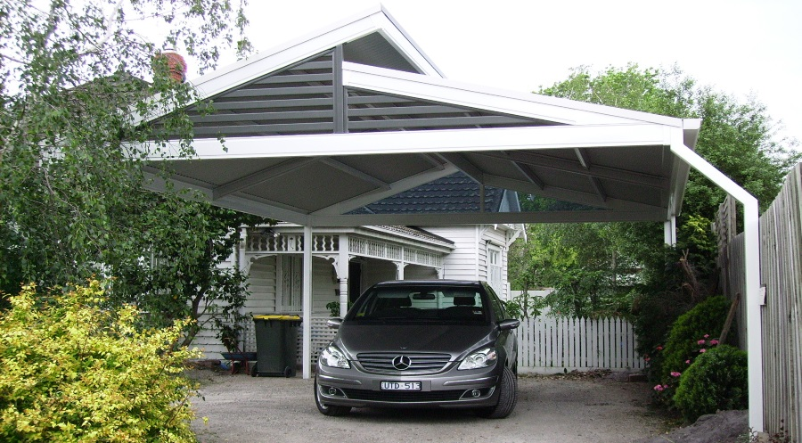 Split Gable Steel Carport with Colorbond Roofing